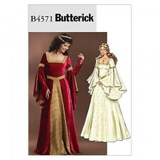 Butterick Ladies Sewing Pattern 4571 Historical Costume Dress (Butterick-4571-M)