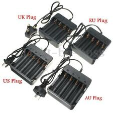 Universal AU/US/UK/EU 4 Output Battery Charger for 18650 18350 Li-ion Battery