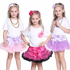 Lovely Kids Girls Chiffon Ruffle Pettiskirt Dancewear Tutu Skirt Party Dress
