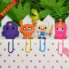 4pcs Adventure Time Cartoon Bookmarks,Paper clips,Office Supplies Party Gifts