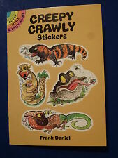 DOVER LITTLE ACTIVITY BOOK 1994 by Frank Daniel ~ 24 Creepy Crawly STICKERS, NEW