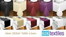 New Hem Stitch Table Cloth Table Runner. Many Colours. Fine Table Linen