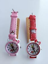 Children Kid Girl Hello Kitty Synth leather Wrist Watch Easter Birthday Gift her