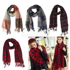 Womens Plaid Tartan Scarf Oversized Neck Warm Shawl Checked Wrap Pashmina Stole