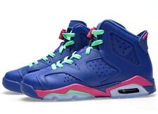 Nike Air Jordan VI 6 Retro GS GG Game Royal Blue Pink Womens Girls 543390-439