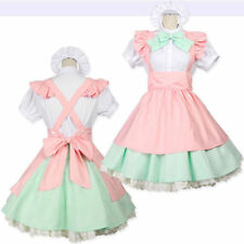 Japanese Maid Uniform Costume & Lolita Bow Dress Amine Halloween Cosplay Party