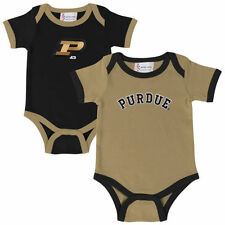 Purdue Boilermakers Infant Two-Pack Embroidered Bodysuit Set - Old Gold/Black