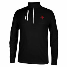 Houston Rockets adidas Mixed Media 1/4 Zip ClimaLITE Pullover Jacket – Black