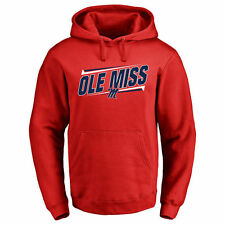 Ole Miss Rebels Double Bar Pullover Hoodie - Red - College