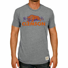 Men's Original Retro Brand Heather Gray Clemson Tigers Vintage Tri-Blend T-Shirt