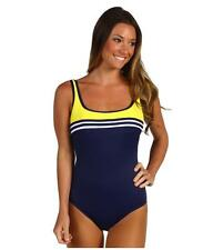 MIRACLESUIT SPORTY US14 MIRACLE STRIPE SWIM SUIT RESORT BATHING SWIMMING COSTUME