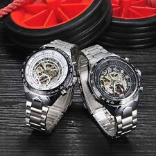 Stainless Steel Mens Auto Self-wind Mechanical Watch Hollow out Skeleton U8P3