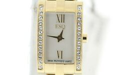 Ladies ESQ 07101374 Gold-Tone Stainless Steel Crystal Accent MOP Dial Watch