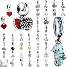 European silver pendant dangle charms beads for Lot bracelet necklace US01