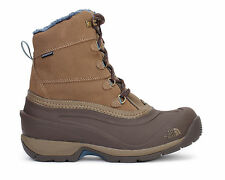The North Face Womens Chilkat III Waterproof Snow Boots Cub Brown/Green