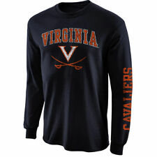 Virginia Cavaliers Big Arch N' Logo Long Sleeve T-Shirt - Navy Blue - College