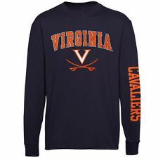 Virginia Cavaliers Youth Distressed Arch & Logo Long Sleeve T-Shirt � Navy Blue