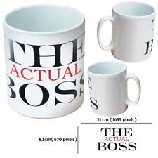 NEW PERSONALISED THE BOSS CUSTOM PRINTED GIFT WHITE MUG YOUR IMAGE PHOTO TEXT