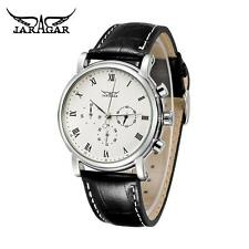 Luxury Automatic Mechanical Analog Leather Mens 24H Date Week Wrist Watch I0O9