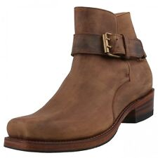 New SENDRA Men's shoes Ankle Boots Leather Shoes Biker Boots Brown