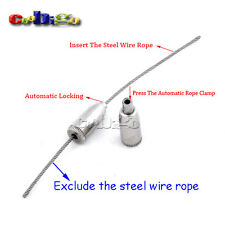 """1/8"""" Hole Automatic Rope Clamp Rigging for Steel Wire Rope Hardware Hanging"""