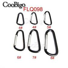Multicolor Aluminum Spring Carabiner Snap Hook Hanger Keychain Hiking Camping