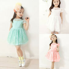 Fashion 2-7Y Baby Girls Pageant Party Tutu Flower Lace Princess Dress Kids Skirt