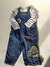 Boys Next Baby Jeans Denim Dungarees Outfit 9-12 Months