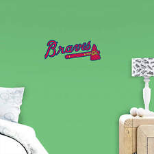 "ATLANTA BRAVES 14"" X 6"" FATHEAD Official MLB Team Logo Wall Graphics Vinyl"