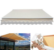 8'×7' Manual Retractable Patio Awning Sun Shade Outdoor Deck Canopy Shelter