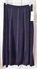 ANNE KLEIN MEDIUM PARK PLACE STRETCHY  BLACK SKIRT, MID CALF, NEW WITH TAGS