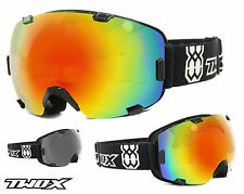 TWO-X Air Ski Goggles Snowboard Goggles Frameless Glasses black iridium mirrored