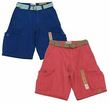 Urban Pipeline Boys Colored Cargo Shorts with Belt Youth Longer Length New