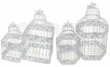 WHITE METAL DECORATIVE SQUARE HEXAGON SQUARE WEDDING BIRDCAGE TABLE CENTREPIECES