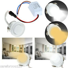 1W 86-265V LED Dimmable Ceiling Light Cabinet Recessed Down Lamp Bulb