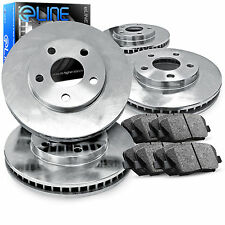 """Brake Rotors *FRONT+REAR KIT ELINE """"O.E. REPLACEMENT"""" & CERAMIC PADS RD49213"""