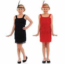 Childrens Flapper Fancy Dress Costume 1920s Chicago Charleston Outfit 4-12 Yrs