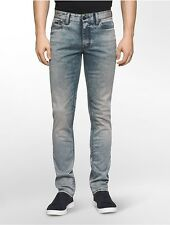 calvin klein mens slim straight leg brisbane light wash jeans
