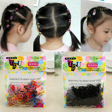 400pcs/bag Rubber Hairband Rope Ponytail Holder Elastic Hair Band Braids Tight