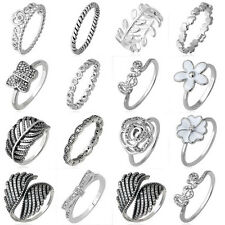 10kt filled European silver  ring charm Women rings lady band Fit gift SIZE6-9