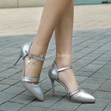 Hot Sale Womens Stilettos High Heel Pointy Toe Ankle Strap Ladies Party Shoes Sz