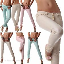Women Pants Leather Look Skinny Jeans Low-rise Trousers Wet Look Style 30 32 34