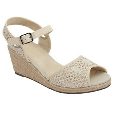 Top Moda CD05 Women's Comfort Peep Toe Espadrilles Ankle Strap Wedge Sandals