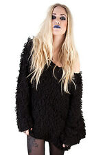 TRIPP NYC GOTHIC EMO PUNK ROCKER SHIRT BLACK GORILLA KNIT PULLOVER SWEATER