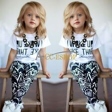 Summer Baby Girls Outfit Tops T-shirt +Legging Trousers 2pcs Outfits Clothes Set