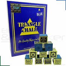 Triangle Snooker Pool Billiards Cue Tip Chalk Blue 12 - 144 Cubes