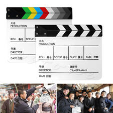 New Acrylic Clapperboard TV Movie Film Cut/Action Clapper Board Slate Clappers