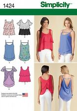 Free UK P&P - Simplicity Ladies Sewing Pattern 1424 Pullover Tiered Tops ...