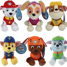 "6 PCS PAW PATROL Soft Plush Toy Marshall Rubble Chase Rocky Skye 5"" 8"" Doll"