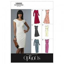 Vogue Ladies Easy Sewing Pattern 8685 Close Fitting Dresses (Vogue-8685-M)
